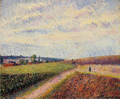 View of Eragny 1892 | Camille Pissarro | oil painting