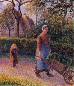 Woman with a Wheelbarrow 1892 | Camille Pissarro | oil painting