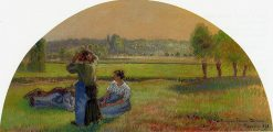 The Siesin the Fields 1893 | Camille Pissarro | oil painting