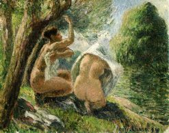 Bathers 3 1894 | Camille Pissarro | oil painting