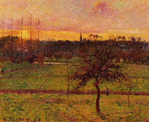 Landscape at Eragny 1894   Camille Pissarro   oil painting