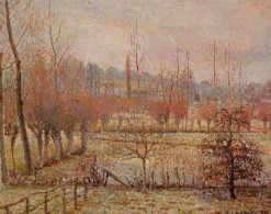 Snow Effect at Eragny 1894 | Camille Pissarro | oil painting