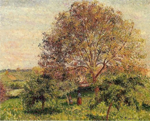 Walnut Tree in Spring 1894 | Camille Pissarro | oil painting