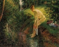 Bather in the Woods 1895 | Camille Pissarro | oil painting