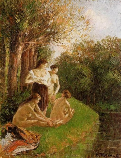 Bathers 2 1895 | Camille Pissarro | oil painting