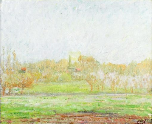 Fog in Eragny 1895 | Camille Pissarro | oil painting
