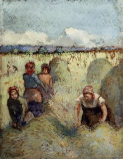 Haymaking 1895 | Camille Pissarro | oil painting