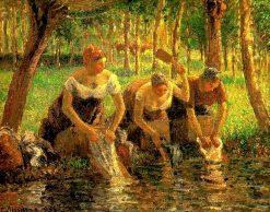 Laundring Women. Eragny sur Eptes 1895 | Camille Pissarro | oil painting