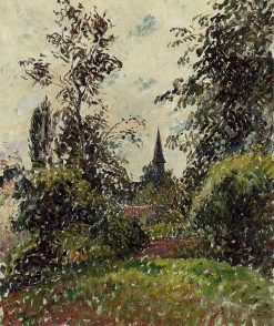The Bazincourt Steeple (study) 1895 | Camille Pissarro | oil painting
