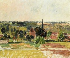 View of Eragny 1895 | Camille Pissarro | oil painting