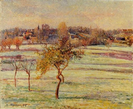 White Frost at Eragny | Camille Pissarro | oil painting