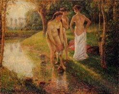 Bathers 1896 | Camille Pissarro | oil painting