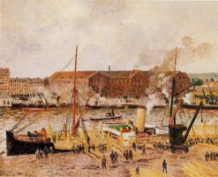 Unloading Wood at Rouen 1896 | Camille Pissarro | oil painting