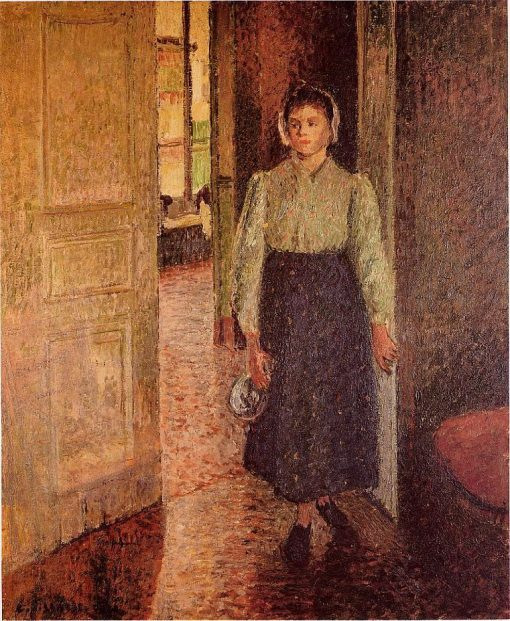 A Young Maid 1896 | Camille Pissarro | oil painting