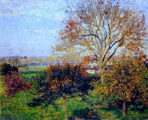 Autumn morning at Eragny 1897 | Camille Pissarro | oil painting