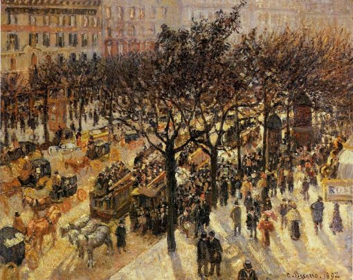 Boulevard des Italiens Afternoon 1897 | Camille Pissarro | oil painting