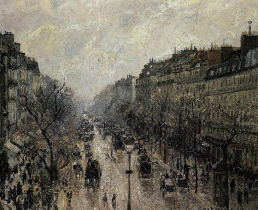 Boulevard Montmartre Foggy Morning 1897 | Camille Pissarro | oil painting
