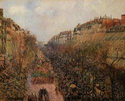 Boulevard Montmartre Mardi Gras 1897 | Camille Pissarro | oil painting