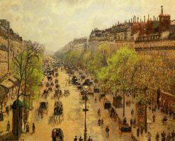 Boulevard Montmartre Spring | Camille Pissarro | oil painting