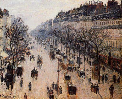 Boulevard Montmartre Winter Morning 1897 | Camille Pissarro | oil painting