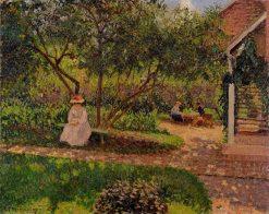 Corner of the Garden in Eragny 1897 | Camille Pissarro | oil painting