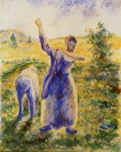 Workers in the Fields 1896 - 1897 | Camille Pissarro | oil painting