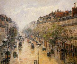 Boulevard Montmartre Spring Rain 1897 | Camille Pissarro | oil painting