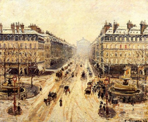 Avenue de l'Opera - Effect of Snow 1898 | Camille Pissarro | oil painting