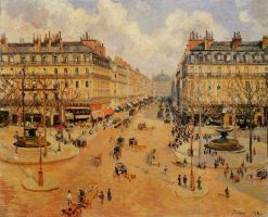 Avenue de l'Opera Morning Sunshine 1898 | Camille Pissarro | oil painting