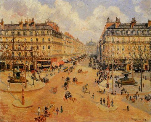 Avenue de l'Opera Morning Sunshine 1898   Camille Pissarro   oil painting