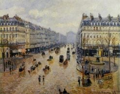 Avenue de l'Opera Rain Effect 1898 | Camille Pissarro | oil painting