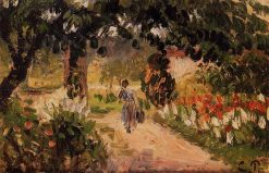 Garden at Eragny 1899 | Camille Pissarro | oil painting