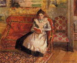 Jeanne Reading 1899 | Camille Pissarro | oil painting
