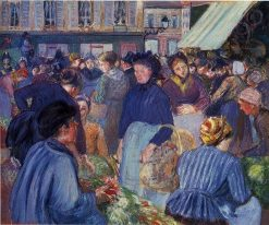 The Market at Gisors 1899 | Camille Pissarro | oil painting