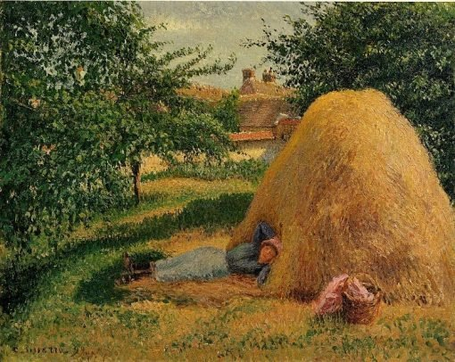 The Siesta 1899 | Camille Pissarro | oil painting