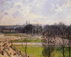 The Tuileries Gardens Winter Afternoon 1899 | Camille Pissarro | oil painting