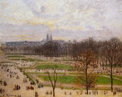 The Tuilleries Gardens Winter Afternoon 1899 | Camille Pissarro | oil painting