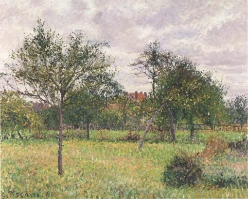 Afternoon in Eragny grey weather 1900 | Camille Pissarro | oil painting