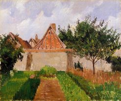 Garden at Eragny (study) 1899 - 1900 | Camille Pissarro | oil painting