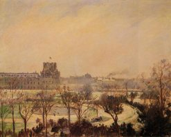 The Tuileries Gardens Snow Effect 1900 | Camille Pissarro | oil painting