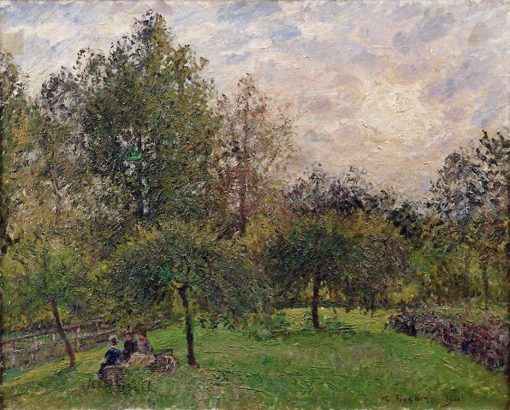 Apple Trees and Poplars in the Setting Sun | Camille Pissarro | oil painting