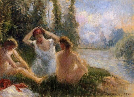 Bathers Seated on the Banks of a River 1901 | Camille Pissarro | oil painting