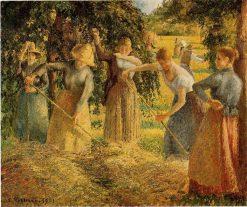 Harvest at Eragny   Camille Pissarro   oil painting