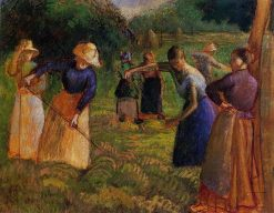 Haymaking in Eragny 1901 | Camille Pissarro | oil painting