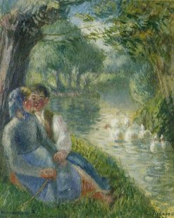 Lovers Seated at the Foot of a Willow Tree 1901 | Camille Pissarro | oil painting