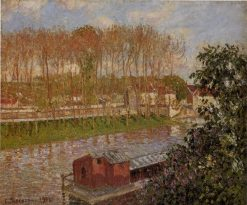 Sunset at Moret-sur-Loing 1901 | Camille Pissarro | oil painting
