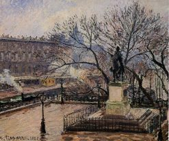 The Raised Tarrace of the Pont Neuf and Statue of Henri IV 1901 | Camille Pissarro | oil painting