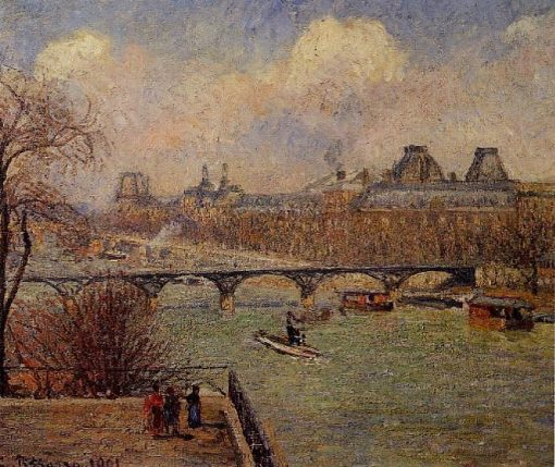 View of the Seine from the Raised Terrace of the Pont Neuf 1901   Camille Pissarro   oil painting