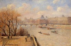 The Raised Terrace of the Pont Neuf 1902 | Camille Pissarro | oil painting