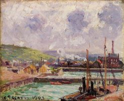 View of Duquesne and Berrigny Basins in Dieppe 1902 | Camille Pissarro | oil painting
